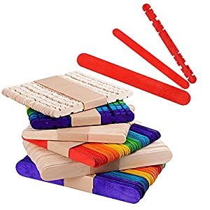 22e05ff944a0e 300 × Palitos para Manualidades Palos Palillo de Madera Natural Colores  Material para DIY Bricolaje Artesanía300 × Palitos para Manualidades Palos…