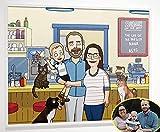 Custom Bobs Burgers Family Portrait Poster, Custom Cartoon Portrait, Digital Illustration, Personalized Gifts, Caricature Drawing, Yellow Cartoon, Photo to Cartoon, Bobs Burgs - iToonify