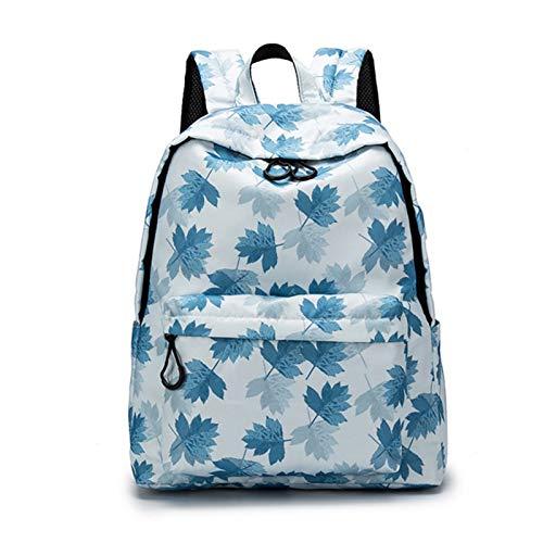 EVFIT Mochila para niñas y adolescentes, bolsa de mano, ligera, para viajes, informal, para colegio, color azul, talla 15.6 pulgadas