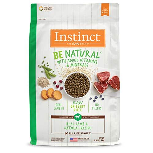 Instinct Be Natural Real Lamb & Oatmeal Recipe Natural Dry Dog Food by Nature's Variety, 12 lb. Bag