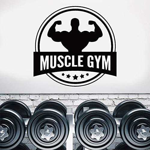 Tianpengyuanshuai muursticker voor fitnessstudio, spieren, vinyl, interieur, afneembaar, thuisdecoratie, fitness ramen