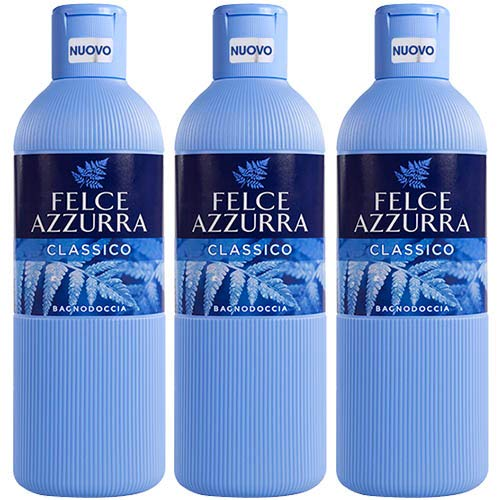 3X Felce Azzurra classique Bain moussant Mousse de bain 650ML bain Douche mousse