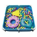 ZFAYFMA Bañera de natación para niños, portátil, hinchable, zona familiar, piscina para niños pequeños y bebés, centro de natación exterior, jardín, patio trasero, fiesta acuática, color azul