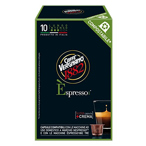 Caffè Vergnano 1882 Èspresso1882 Lungo Intenso - 10 Capsule - Compatibili Nespresso
