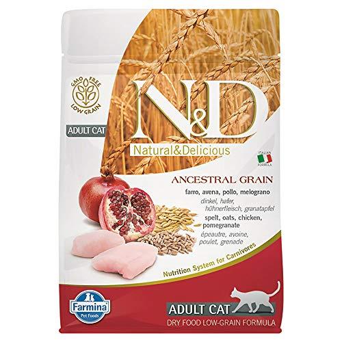 Farmina N&D Katze Getreidearm Huhn & Granatapfel Trockenfutter, Kilogramm:0.3 kg