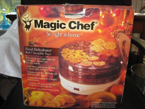 Review Magic Chef Food Dehydrator w/5 Stackable Trays 470