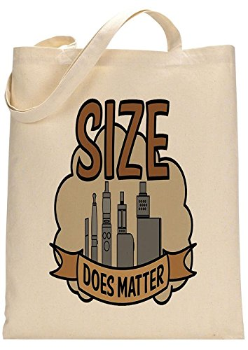 Funnywear Vape Size Does Matter Custom Made Tote Bag