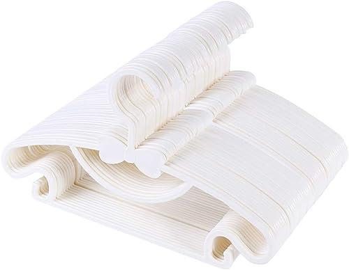 Sfesnid Lot de 50 Cintres Vêtements pour Enfants Bébés en Plastique de Stockage Cintres pour la Longueur de 29cm avec...