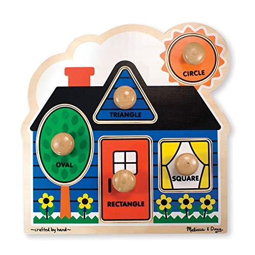 Melissa & Doug First Shapes Jumbo Knob Wooden Puzzle
