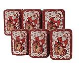 mikken 6x kleine Keksdose, Weihnachtsdose Metalldosen in Truhenform