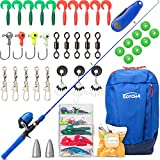 Fishing Poles for Kids Ages 4-8 – Telescopic Fishing Rod and Reel Combo Includes Kids Tackle Box...