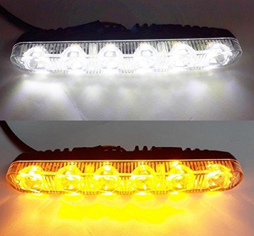 Lot de 2 feux de circulation diurnes LED 12 V avec clignotants dynamiques intégrés pour voiture, van, 4 x 4, bus, moto.