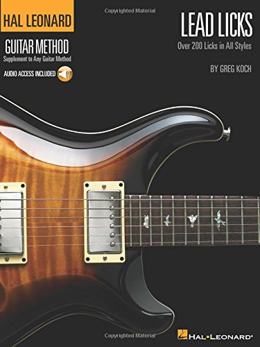 Hal Leonard Guitar Method Lead Licks (Book, CD): Lehrmaterial, CD für Gitarre (Hal Leonard Guitar Method (Songbooks))