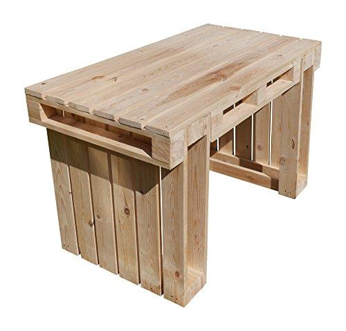 relaxedLiving | Tisch aus Paletten | Naturholz | Gartenmöbel | Palettenmöbel | unbehandeltes Holz | geeignet für Restaurants, Messen, Gastronomie etc. | Großbestellungen möglich