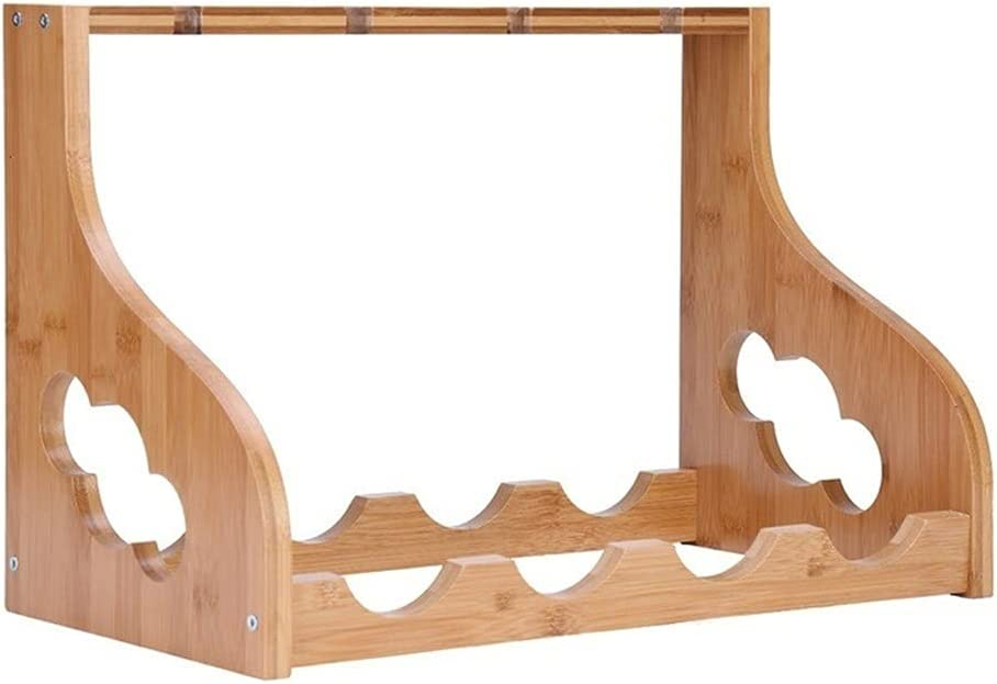 Wood Wine Rack Storage Shelf Ranking TOP19 Holds sold out 4 Glasses Bottles and