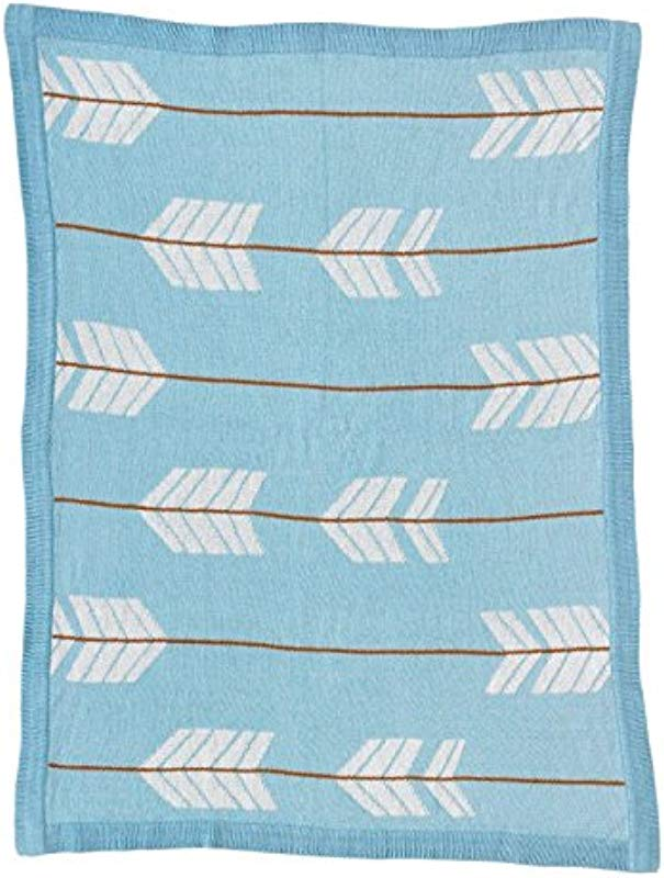 Lolli Living Woods Cotton Knit Baby Blanket Arrows