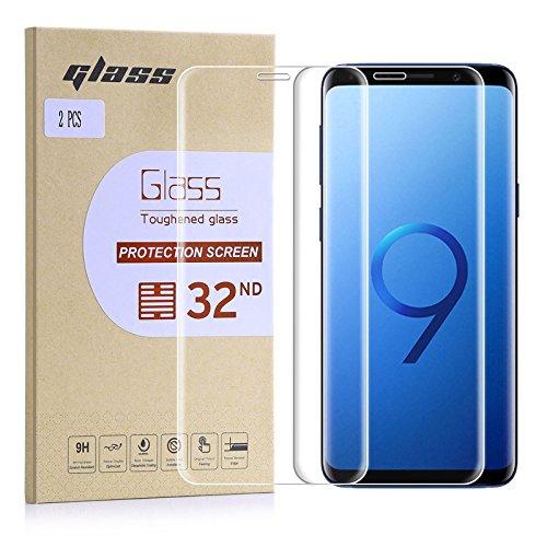 32nd Schermbeschermer, [Bubble gratis installatie], Gehard Glas Scherm Beschermer voor Samsung Galaxy S9 Plus [2 stuks]
