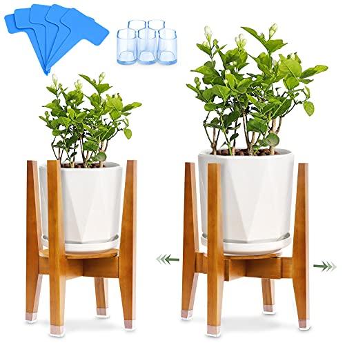 Soporte para Plantas, Soporte de Plantas Expandible, 5 Alfombrilla Antideslizante , 5 Etiqueta,...