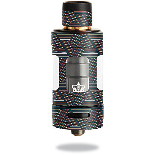 MightySkins Skin Compatible with Uwell Crown 3 Tank – Triangle Stripes | Protective, Durable, and Unique Vinyl Decal wrap Cover | Easy to Apply, Remove, and Change Styles | Made in The USA