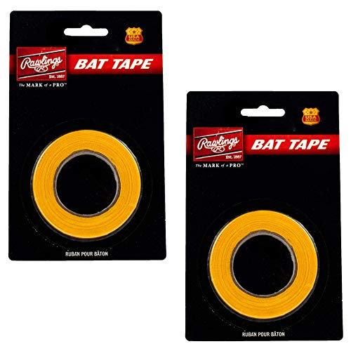 Rawlings Baseball Softball Bat Tape Grip - (2-Pack, Yellow) - Bat Handle Wrap for Batting