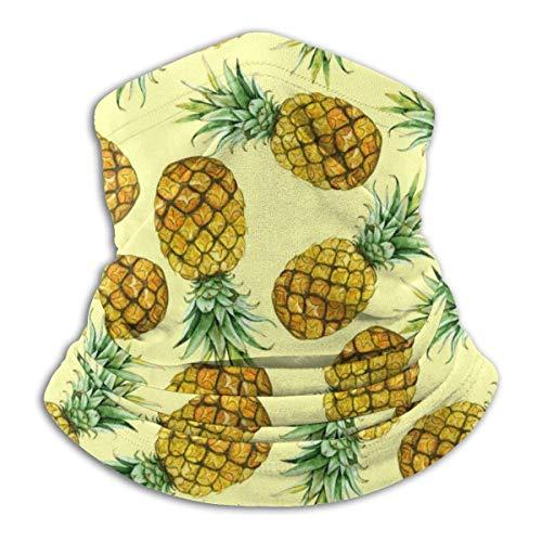 Duang halswarmer aquarel ananas unisex kinder bandana volwassenen halsverwarmer buiten hals gamasche bivakmuts werken fietsen veelkleurig multifunctioneel 30 x 25 cm