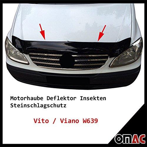 OMAC Motorhaube Deflektor Insekten und Steinschlagschutz für Vito W639 2003-2014