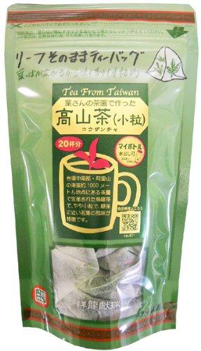 久順銘茶 葉さんのリーフ 高山茶 小粒 ティーバッグ 2g×20