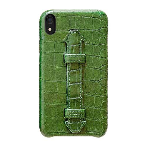 Suhctup Coque Compatible pour iPhone XS Max Rétro PU Cuir Cover Housse avec Fonction de Support [ 3D Emboss Crocodile Motif Texture Leather ] Ultra Fi