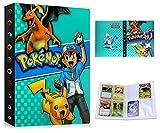 Album Pokemon, Álbum de Cartas Pokémon, Álbum Titular de Tarjetas Pokémon Carpeta Carpeta Libro 30 páginas 240 Tarjetas Capacidad (Blue Ash)