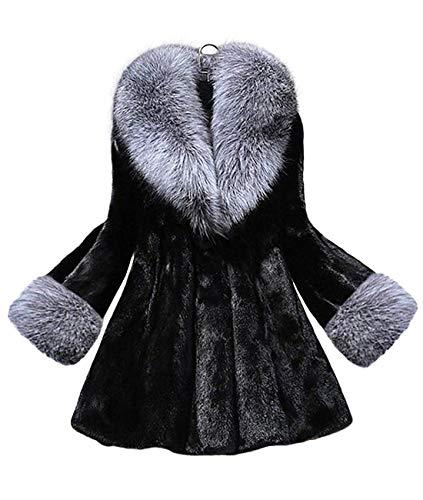 (イン二ファー)Innifer レディース ファーコート 3D立体 ファーネック デザイン フェイクファー ジャケット おしゃれ 毛皮コート 白 黒 体型カバー 防寒 コート ふわふわ 暖かさ 贅沢 高級感