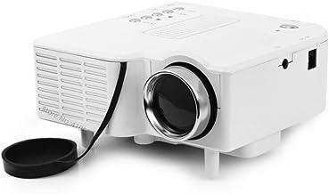 WHLDCD Proyector Mini proyector de Video casero para películas con PC HDMI Bombilla LED USB 20000 Horas Sistema de señal de Soporte portátil Beamer, A