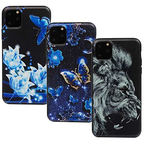 Vogu'SaNa - Funda de Silicona para iPhone de 6,5 Pulgadas (2019), Color Negro