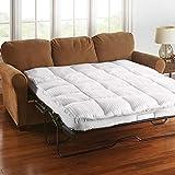 BrylaneHome Sofa Bed Mattress Topper - Queen, White