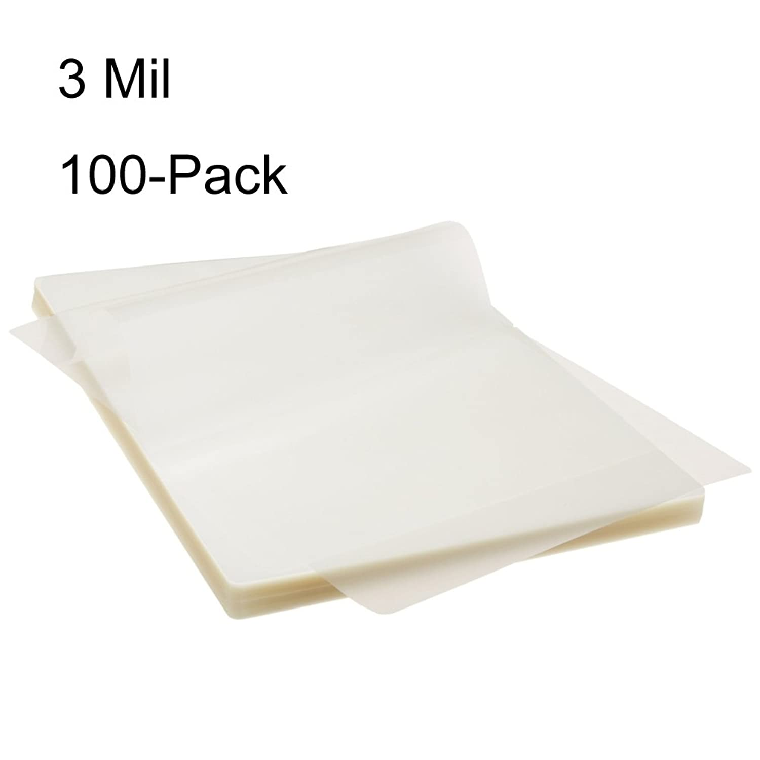 BESTEASY 3 Mil Clear Letter Size Thermal Laminating Pouches, 8.9'' x 11.4'', Pack of 100