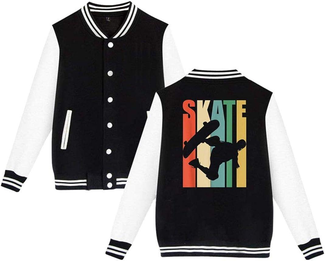Vintage Skateboard coats funny jackets Fleece baseball uniforms for Men Women Kids