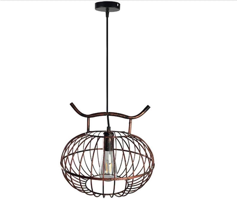 DECJ Vintage Industrial Chandeliers, Flush Mount Lighting Bird Cage Chandelier, Nordic Iron Hallway Study Warehouse Suspension Light (Bulb not Include),B