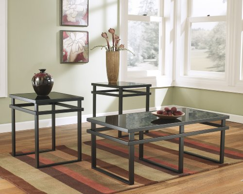 Furnituremaxx Lane 3pc Black Metal And Glass Coffee End Table Set Buy Online In Burkina Faso At Burkinafaso Desertcart Com Productid 27831480