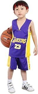 KSWX Camiseta de Baloncesto Niño Lakers # 23 Lebron James Traje De Entrenamiento De Baloncesto para Hombres Y Mujeres