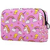 Viajes de unicornio arcoíris púrpura colgante neceser lavado bolsa de maquillaje cosmético organizador para mujeres niñas niños