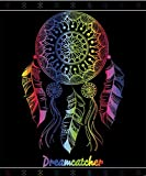 Textil Tarrago Serviette de plage 100% coton égyptien motif attrape-rêves, Multicolore, 190x 140cm
