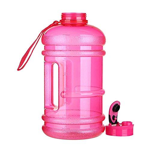 Alftek Grote drinkwaterflessenschaal van 2,2 liter, voor picknick buiten, fiets, gymnastiektraining
