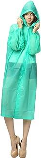 huiingwen Chubasquero portátil reutilizable para mujer, impermeable con capucha