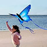 lahomie Mometa de Mariposa, Diseño de Mariposas Juguete para DEeportes Cometa de Colorido de Dibujos Animados Mariposa Azul