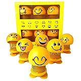 YIJIAOYUN Nette Emoji Kopfschüttelnde Puppen, lustige Smiley Federn Tanzen Spielzeug für Auto...