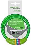 probock Candado de bicicleta para niños con código numérico y cable de candado para bicicleta infantil, tamaño 10 x 650 mm, edición 2021 (verde)