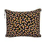 Manta de Viaje de Moda Halloween Candy Corn Travel Blanket Pillow Set for Extra Comfort Portable with Luggage Strap Perfect...