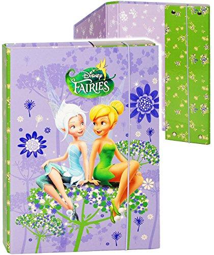 alles-meine.de GmbH Heftordner / Ordner / Heftbox - A5 -  Disney Fairies - Tinkerbell  - für Hefte, Zettel und Mappen - Glanz Druck - Gummizugmappe & Heftmappe - Mappe & Box - ..
