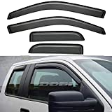 ASL 94738 4pcs Compatible with 2004-2014 F-150 Super Extended Cab Sun Rain Wind Deflector Guard Vent Shade Window Visors Original Outside Mount Style