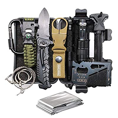 Cool & Unique Birthday Gift for Him Men Husband Dad Boyfriend Boys, Fun Gadget Mens Gifts Ideas, 11-in-1 Survival Gear Kits, EDC Emergency Tools and Everyday Carry Gear, Official Survival Kit from TRSCIND