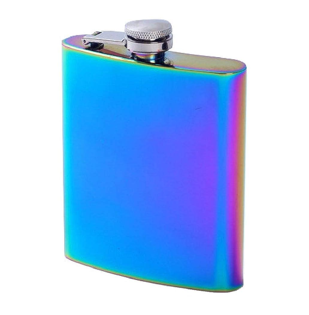 火山学みぞれスマッシュbestler スキットル 7oz ウイスキー携帯ボトル ヒップフラスコ パープルレインボー